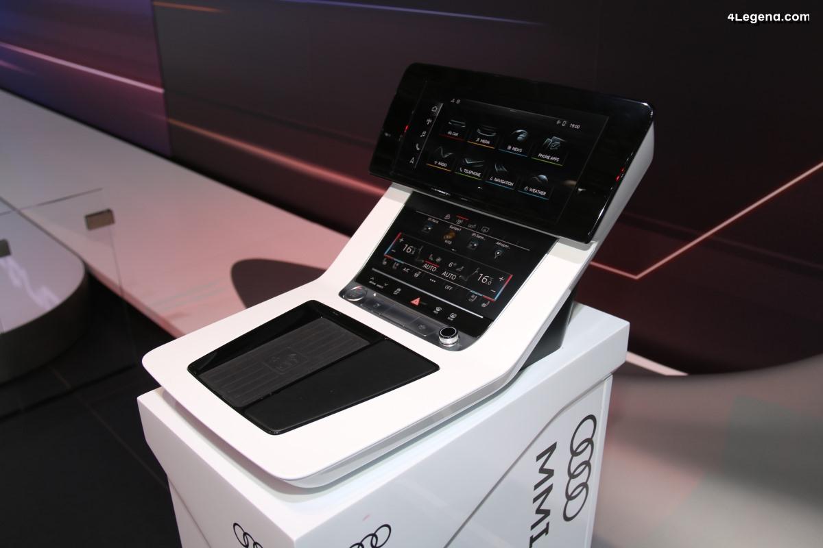 Paris 2018 - Présentation du nouveau système MMI touch response de l'Audi e-tron