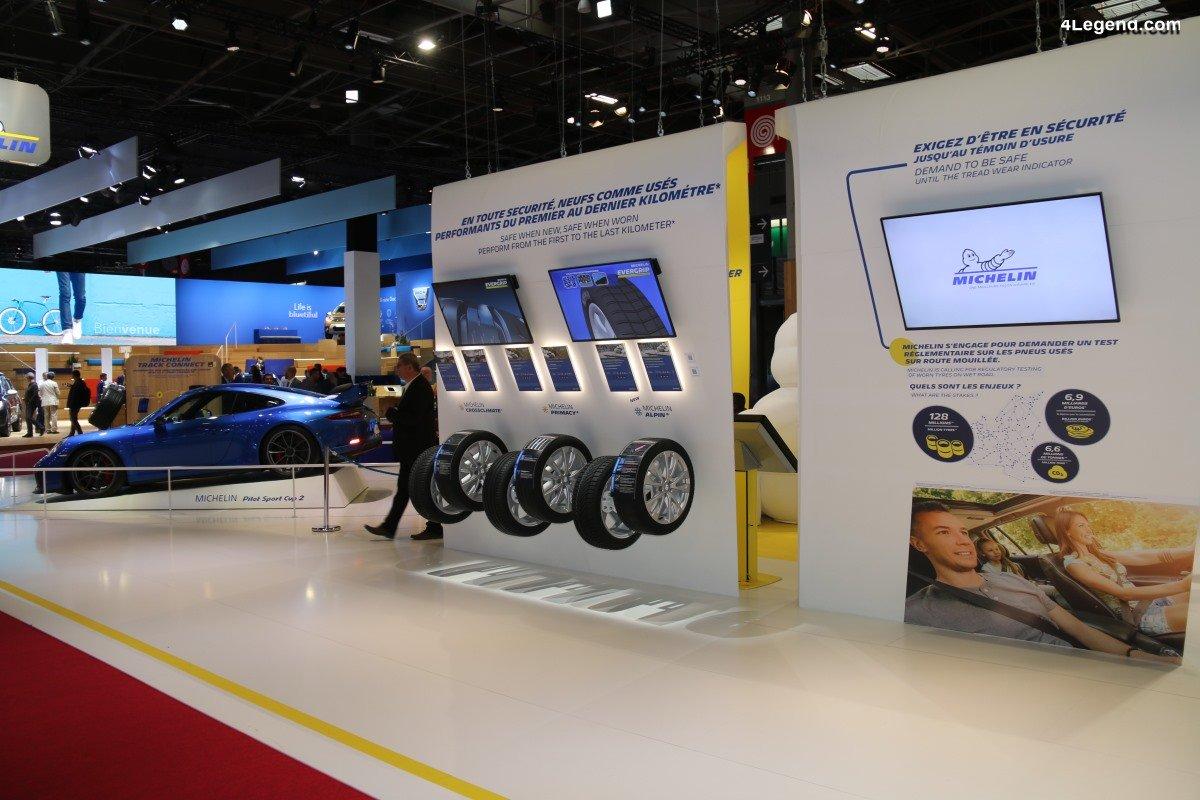 Paris 2018 - Les nouveaux pneus Michelin sont aussi performants neufs qu'usés