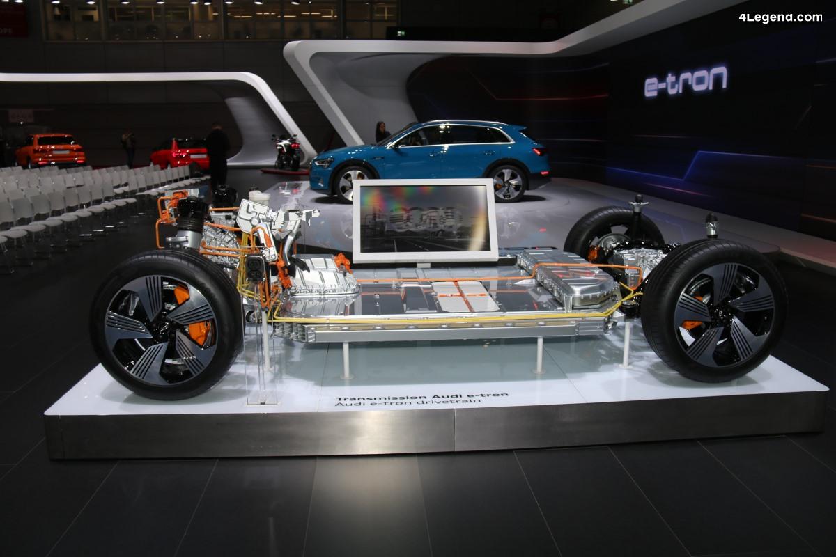 Paris 2018 - Présentation des technologies électriques de l'Audi e-tron