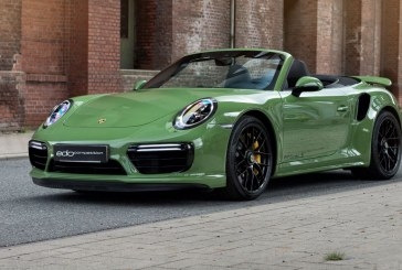 Porsche 911 Turbo S Cabriolet Green Machine par edo competition