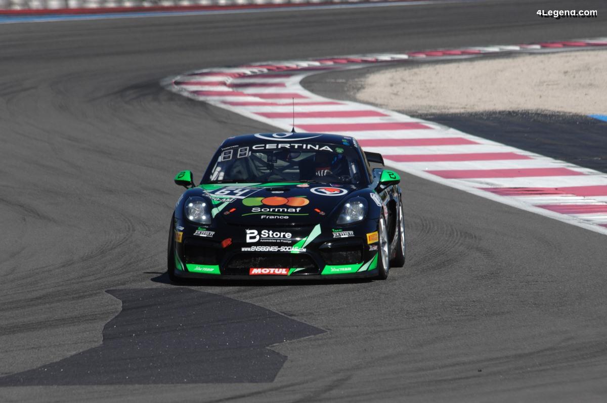 Finale GT4 2018 - Podium pour Éric Trémoulet et sa Porsche Cayman GT4 Clubsport Manthey Racing