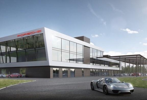 Pose de la première pierre du Porsche Experience Centre Hockenheimring