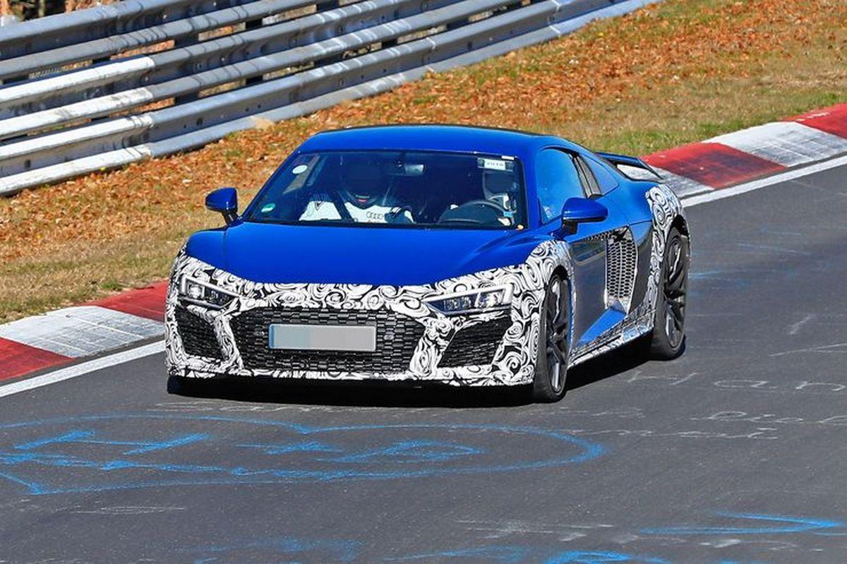 Spyshots de diverses versions d'Audi R8 V10 2019 restylée