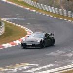Spyshots Porsche 911 GT3 donnant de la vocalise au Nürburgring