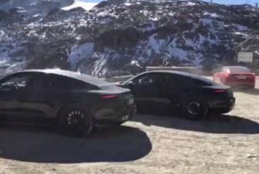 Spyshots d'une Tesla Model S utilisée pour la mise au point du Porsche Taycan
