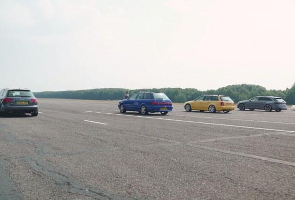 Drag race de 3 générations d'Audi RS 4 avec une Audi RS 2