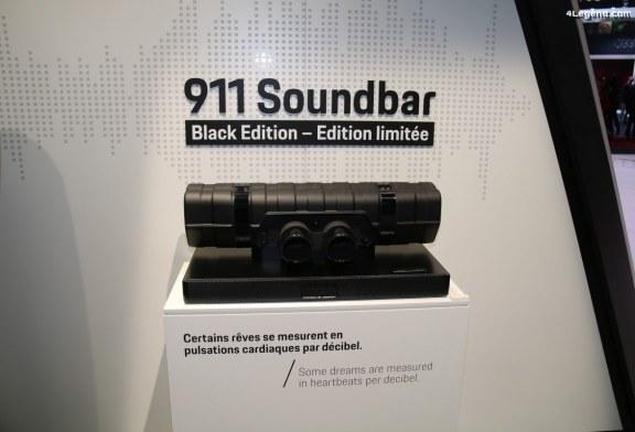 Paris 2018 – Porsche Design 911 Soundbar Black Edition en édition limitée