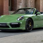 Porsche 911 Turbo S Cabriolet Green Machine par edo competition