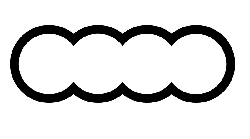 audi d pose de nouveaux logos d riv s des 4 anneaux. Black Bedroom Furniture Sets. Home Design Ideas