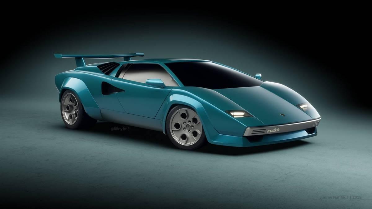 Lamborghini Countach Concept 2018 - Une interprétation moderne d'une icône