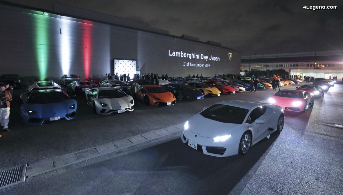 Lamborghini Day Japan 2018 - 200 modèles Lamborghini réunis à Yokohama