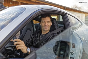 Avant sa première mondiale, Mark Webber a piloté la nouvelle Porsche 911