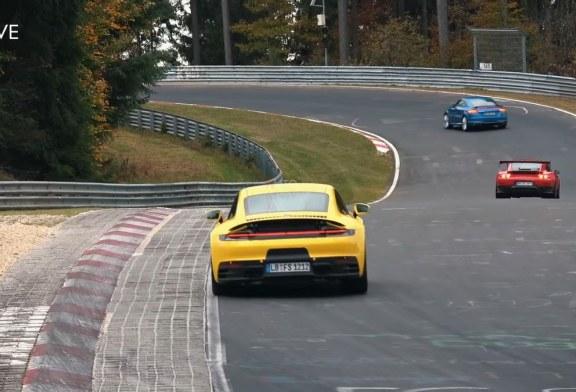 Spyshots Porsche 911 Carrera 4S Type 992 au Nürburgring