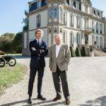 Wolfgang Porsche en visite chez Bugatti à Molsheim
