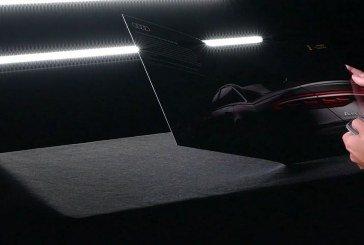 Une publicité interactive pour l'Audi A8 avec un feu OLED dans le magazine Departures