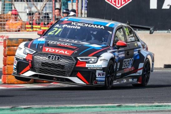 14 voitures de course de l'Audi Sport customer racing à la course de Macao 2018