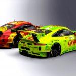 Quatre Porsche 911 GT3 R engagée à la course de Macao 2018