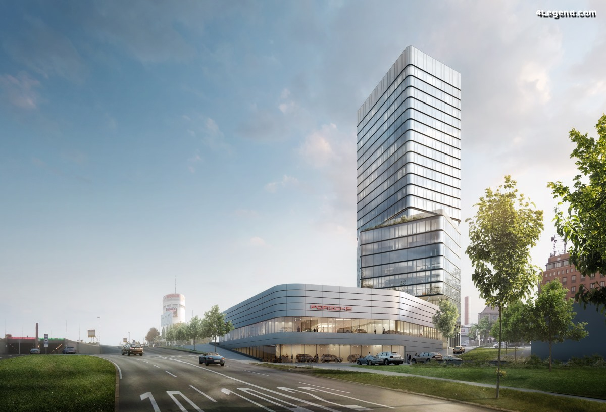 Porsche Design Tower et nouveau Centre Porsche au Pragsattel de Stuttgart