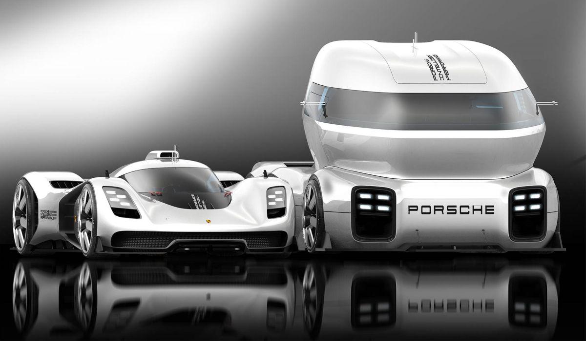 Porsche GT Vision Truck Concept - Un camion de transport de voiture de course Porsche