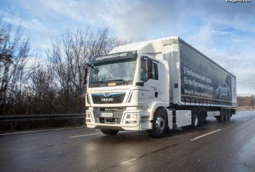 Un premier camion MAN électrique pour la logistique verte de l'assemblage du Porsche Taycan