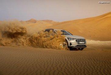 Essais presse de l'Audi e-tron à Abou Dhabi