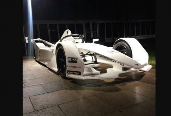 Photos de la voiture de course Porsche en Formule E
