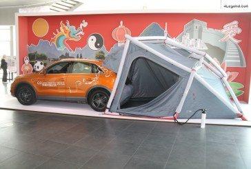 Tente de camping Audi s'adaptant aux coffres de certains SUV Audi