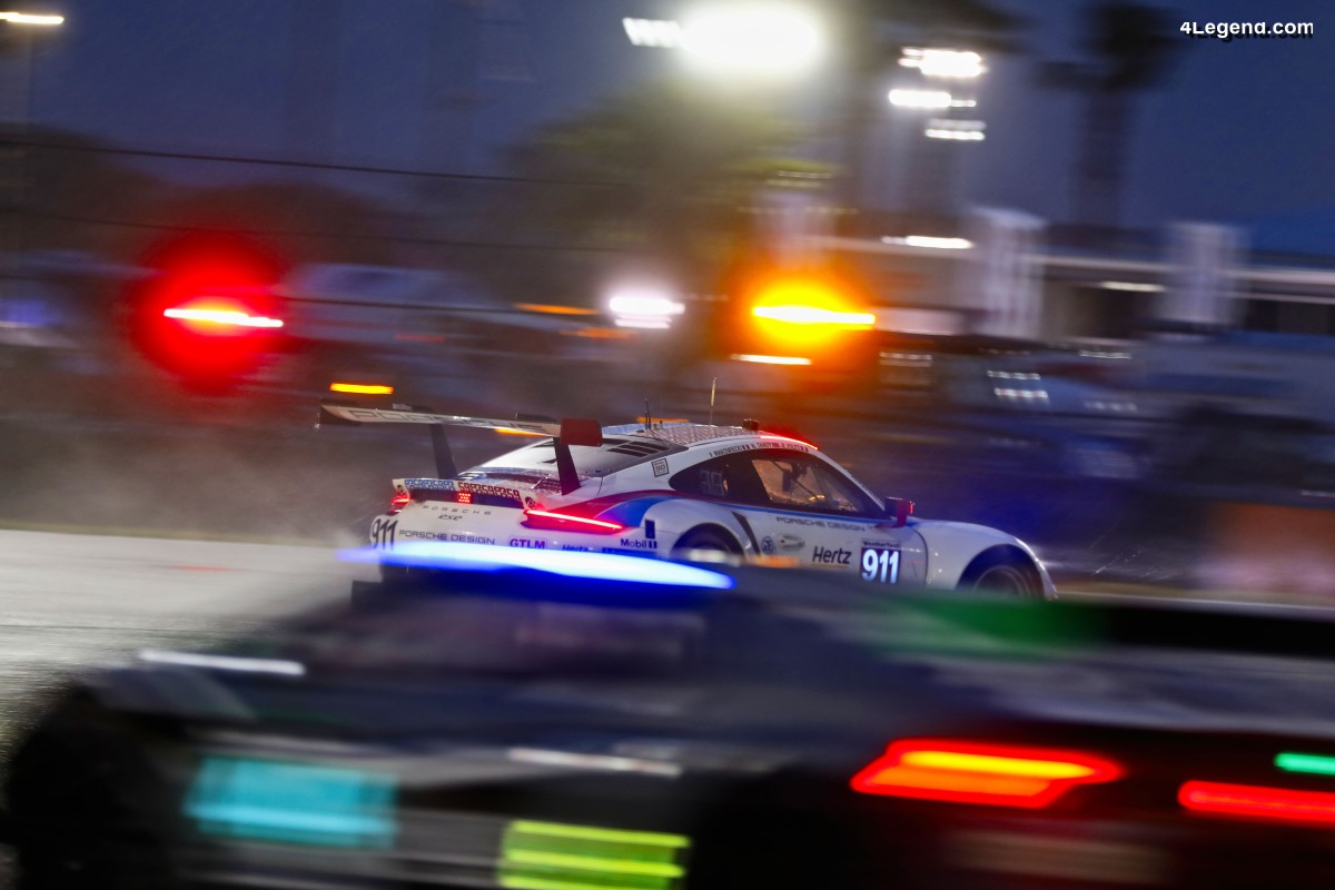 Porsche victime des fortes pluies aux 24 Heures de Daytona 2019