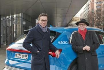 Des stars du cinéma transportées par des Audi e-tron à la Berlinale