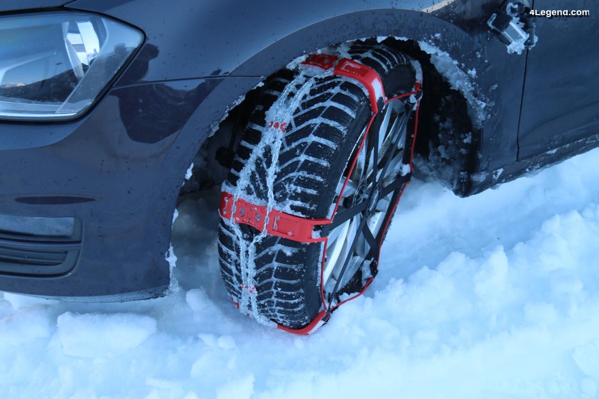 Essai et utilisation des chaînes à neige Polaire Steel Sock