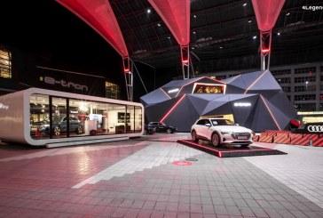 Exposition de l'Audi e-tron à l'aéroport de Munich
