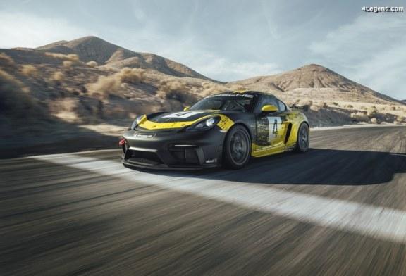 Nouvelle Porsche 718 Cayman GT4 Clubsport avec des éléments de carrosserie en fibres naturelles