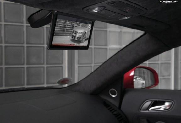 Rétroviseur numérique sur l'Audi R8 e-tron : issu de la course automobile