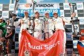 Les équipes clients d'Audi Sport célèbrent un doublé aux 24 Heures de Dubaï 2019