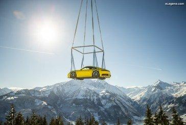Une présentation spectaculaire de la Porsche 911 à 1 408 mètres d'altitude