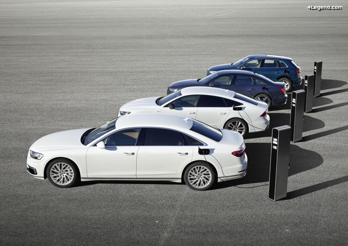 TFSI e - Nouveaux modèles hybrides rechargeables Audi Q5, A6, A7 et A8