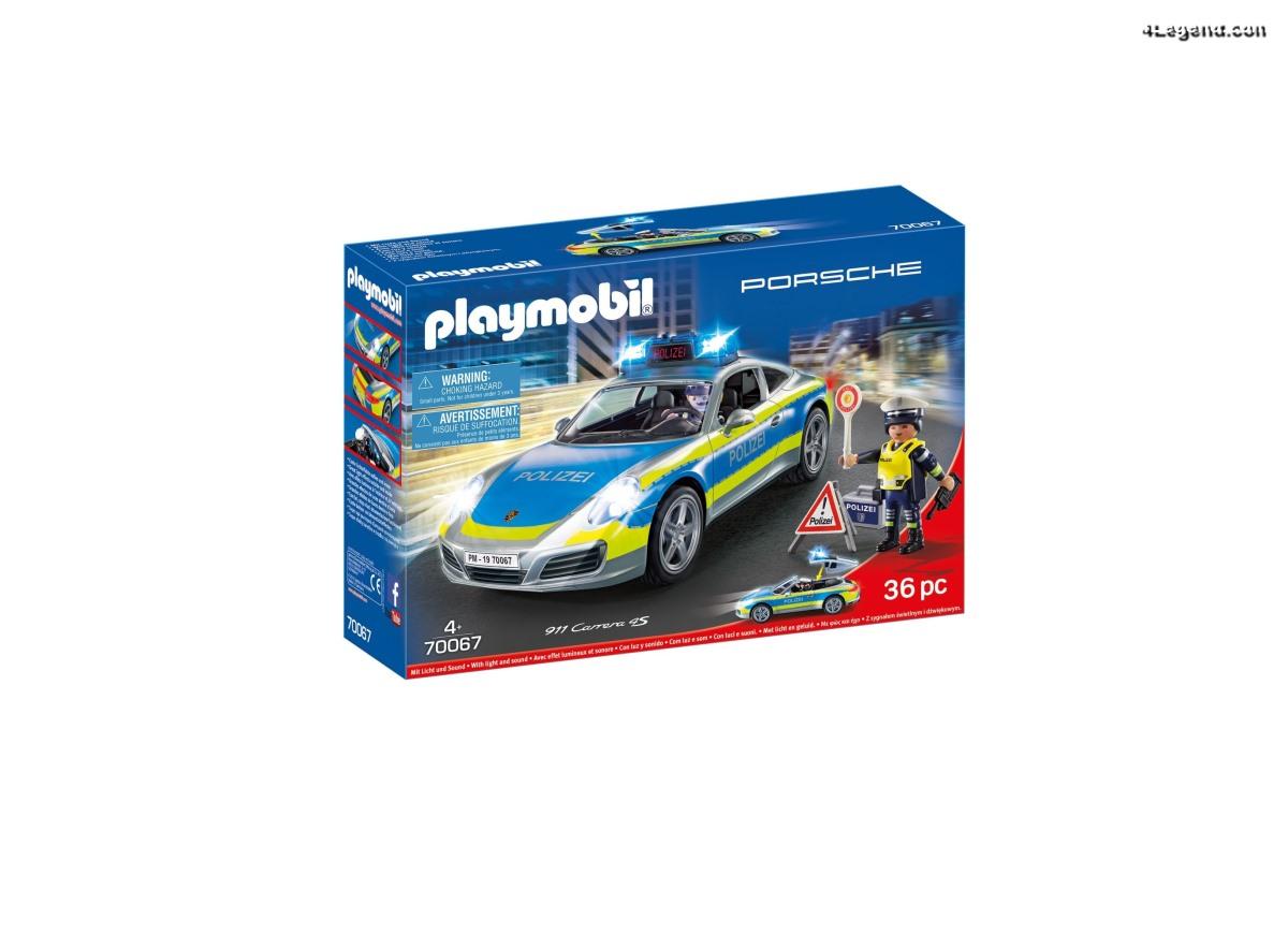 Porsche 911 Carrera 4S Polizei - Playmobil (réf 70067)