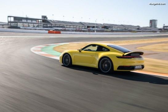 Aérodynamisme actif de la Porsche 911 type 992