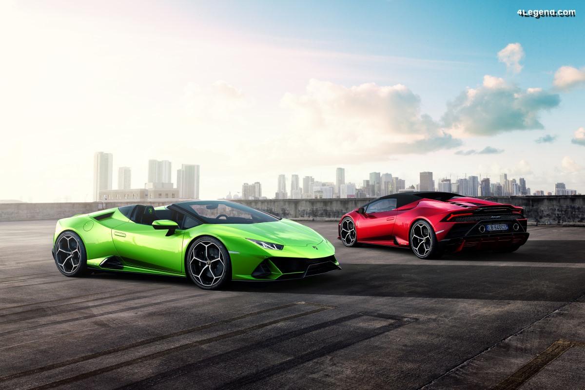 Nouvelle Lamborghini Huracán EVO Spyder - Plus dynamique et performante