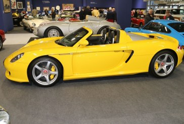 Rétromobile 2019 – Porsche Carrera GT jaune Speed n°1246 de 2006