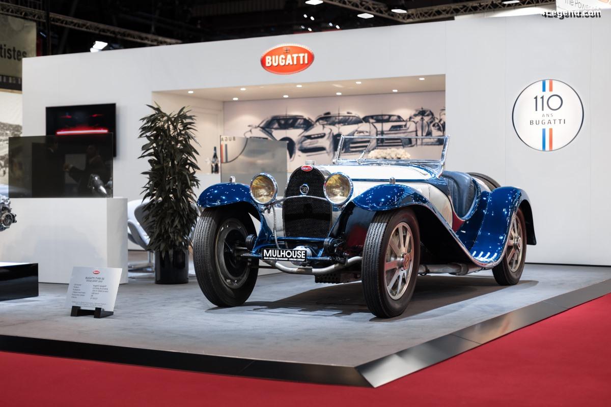 Rétromobile 2019 - Bugatti célèbre ses 110 ans via une EB110 GT et un Type 55
