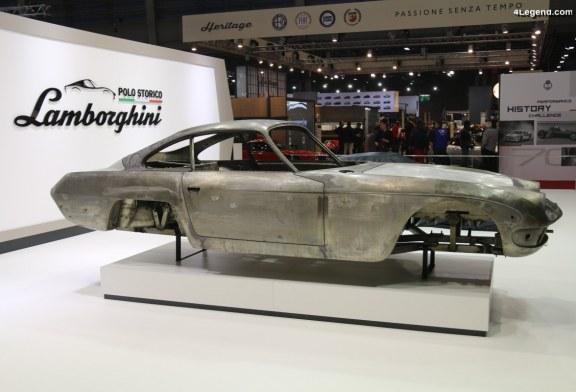 Rétromobile 2019 – Lamborghini Polo Storico expose une carrosserie de 400 GT en travaux
