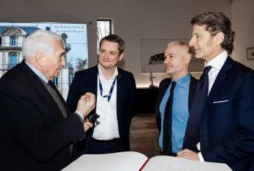 Première visite de Romano Artioli au siège de Bugatti à Molsheim