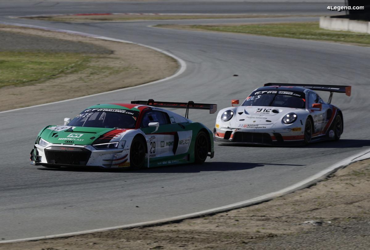 8 Heures de Californie - Un podium manqué de peu pour l'Audi R8 LMS GT3