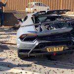 Crash urbain d'une Lamborghini Huracán Performante