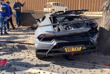 Crash urbain d'une Lamborghini Huracán Performante