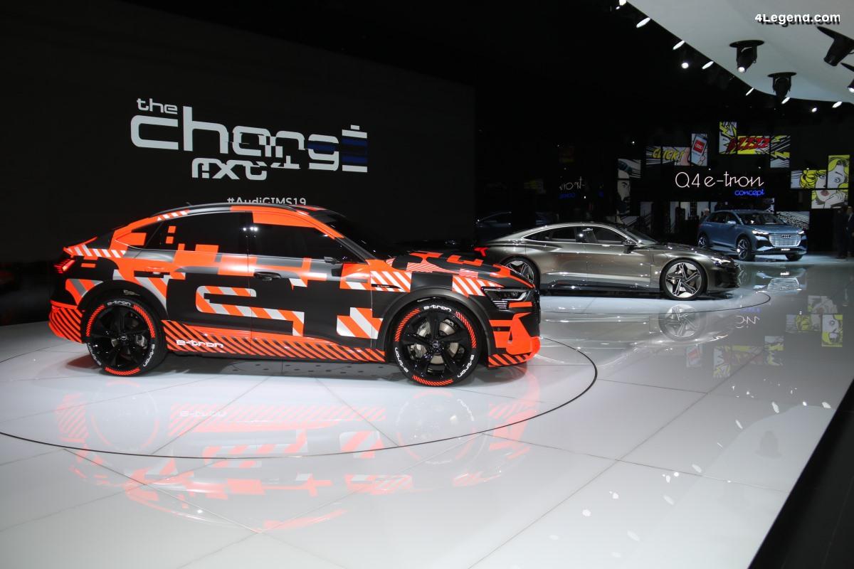 Genève 2019 - Les véhicules électriques e-tron du stand Audi
