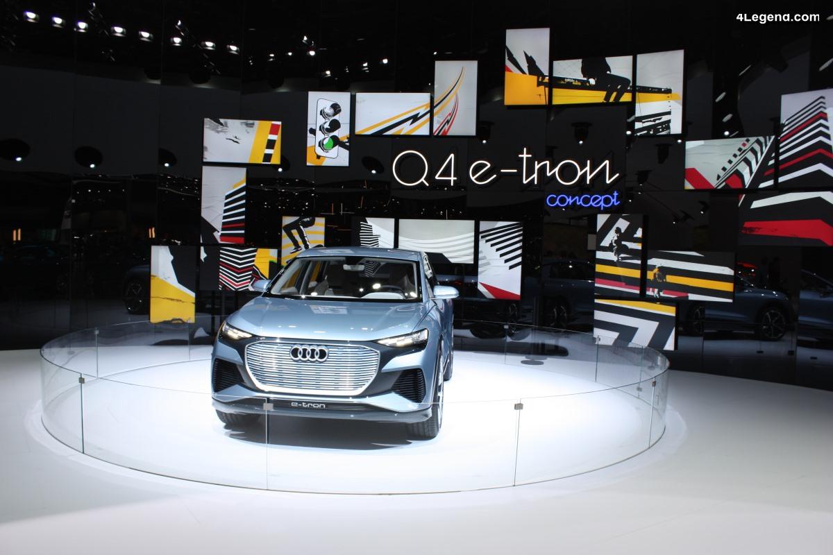 Genève 2019 - Audi Q4 e-tron concept : un SUV compact électrique
