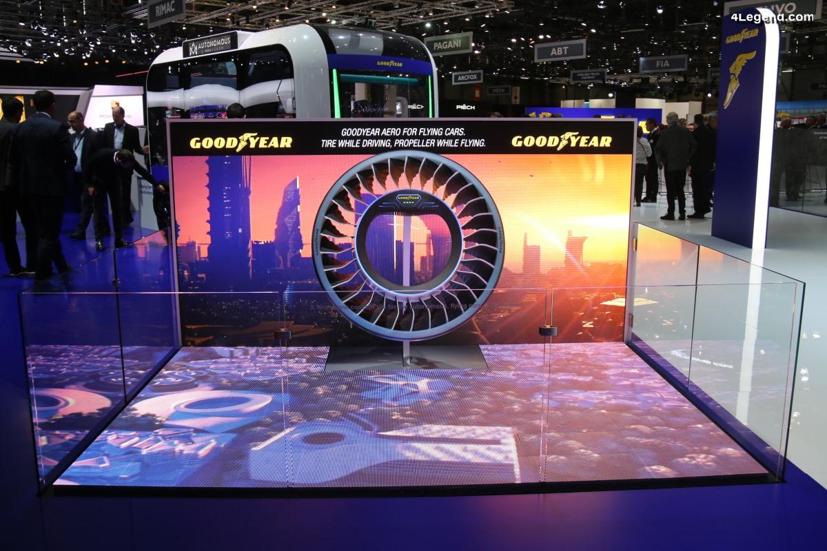 Genève 2019 - Pneu Goodyear Aero - Un concept de pneu pour les voitures volantes et autonomes de demain