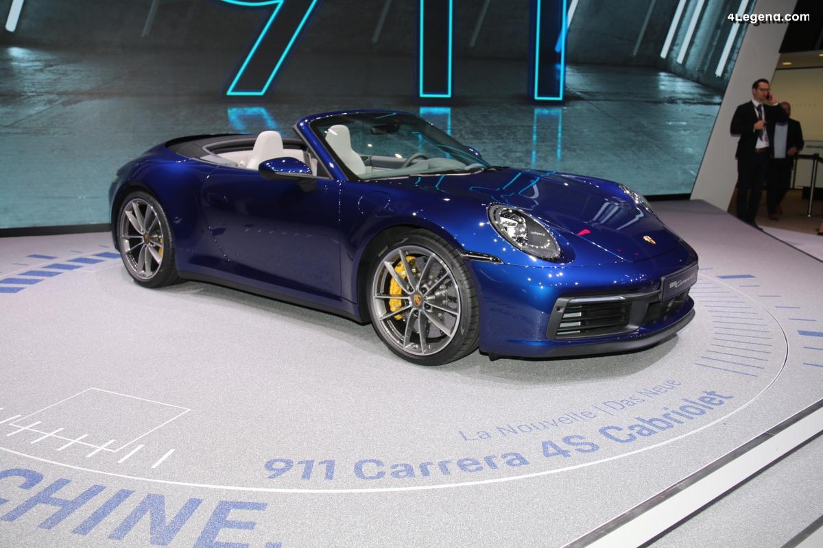 Genève 2019 - Focus sur les nouvelles Porsche 911 Cabriolet type 992 (Carrera S & Carrera 4S)